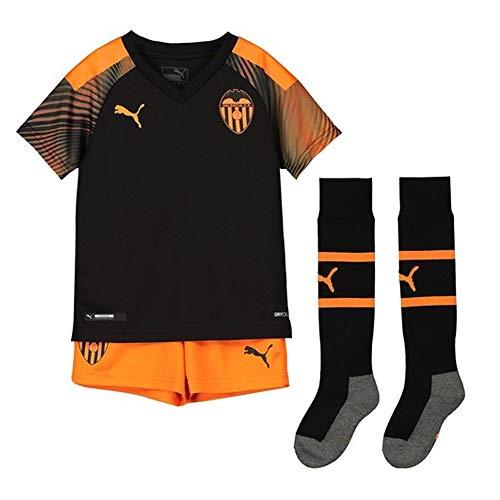 Puma Valencia CF Segunda Equipación 2019-2020 Niño, Conjunto, Puma Black-Vibrant Orange, Talla 98