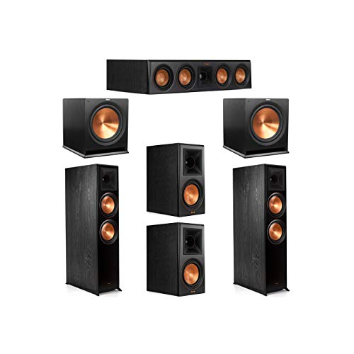 Best Deals! Klipsch 5.2 System with 2 RP-8000F Floorstanding Speakers, 1 Klipsch RP-404C Center Spea...