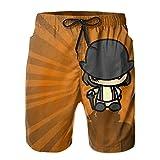 Inaayayi A-Clo-Ck-Work-Ora-Nge - Pantalones cortos de playa para hombre, pantalones cortos de baño clásicos de secado rápido, con múltiples bolsillos y forro de malla