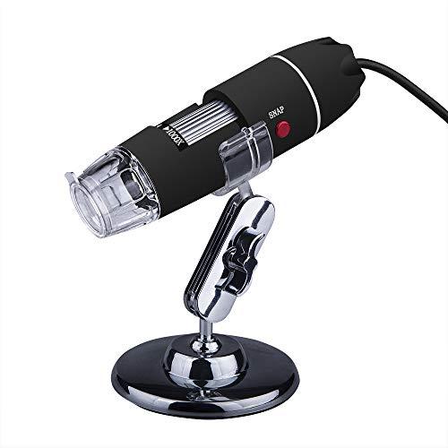 SUZHENA Herramienta 2M Píxeles 40X-1000X 8 LED Digital USB Microscope Magnifier USB USB Endoscopio Cámara, Negro
