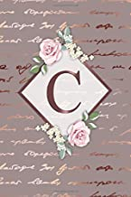C: Nifty Blank Medium Lined Notebook with Monogram Initial Letter C for Girls & Women | Pretty Personalized Medium Lined F...
