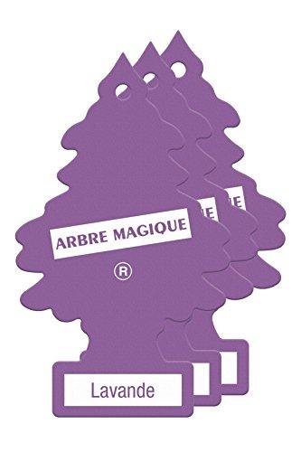 Arbre Magique PER90520 Deodorante Auto, Fragranza Lavanda, Profumazione Prolungata per 7 Settimane, Set di 3