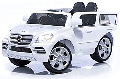 crooza Mercedes-Benz SUV GL450 GL 450 Jeep 12V Kinderauto Kinderfahrzeug Kinder Elektroauto (Weiss)