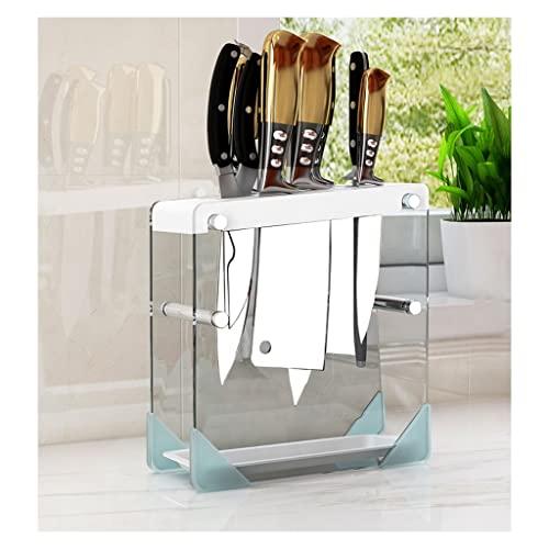 Portacuchillos cocina Cocina Cuchillo vacío Conjunto Cuchillo de vidrio Asiento Encimera de Cuchillo Bloque de Cuchillo Restaurante Cuchillo Estante Estante de Almacenamiento Bloque cuchillos vacío
