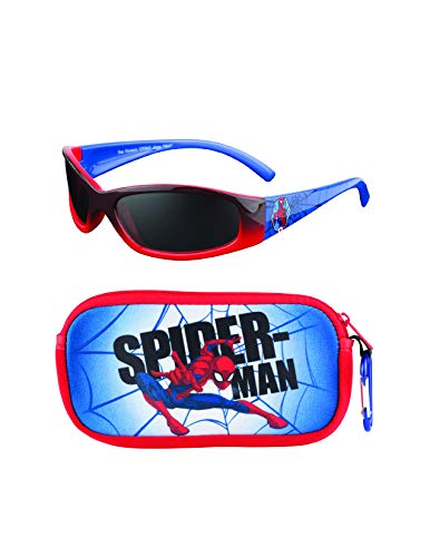 Spiderman Kids Sunglasses with Kids Glasses Case, Protective Toddler Sunglasses