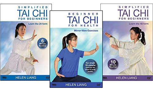 Bundle: Helen Liang - Simplified Tai Chi for Beginners DVD (YMAA) 3-DVD Tai Chi 24, Tai Chi 48, Tai Chi 16 Form **BESTSELLER**