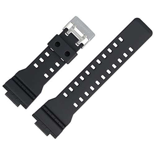 Casio Uhrenarmband Ersatzband 29mm Kunststoff Schwarz - GA-100