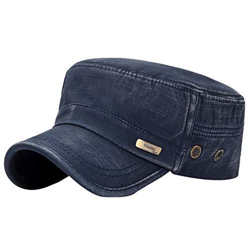 Fenverk Herren Baseball Cap Classic Vintage Cotton Basecap Snapback Caps Outdoor Kappe MüTze Unisex Kappen Hut Frauen MäNner(E Marine)