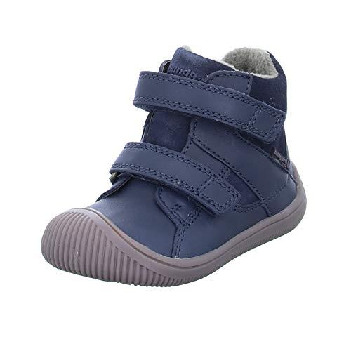 Bundgaard Kinder Stiefel Walk Velcro TEX Jungen Winterstiefel Echtleder warm gefüttert Blau (512 Atlantic) Größe 23 EU