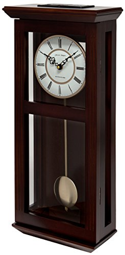 Fox and Simpson Ashton Walnut-Reloj de péndulo con Campanas Westminster, Madera, marrón, 27x13x56 cm