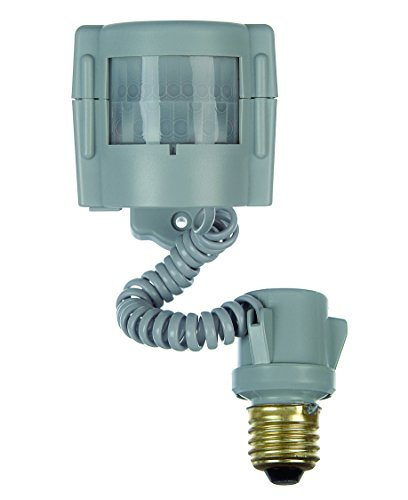 Xodus Innovations HS3100D Motion Activated Indoor/ Outdoor Light Adapter up to 150 Watts with Adjustable 'On' Time , Grey