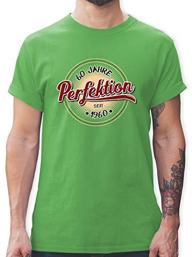 Geburtstag - 60 Jahre Perfektion seit 1960 - XL - Grün - L190 - Tshirt Herren und Männer T-Shirts
