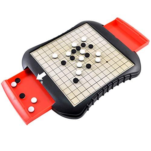 TOYANDONA Go Game Set Met Opberglade Draagbare Magnetische Educatieve Plastic Reversi Bordspel Gobang Spel Voor Volwassenen Kinderen Kinderen