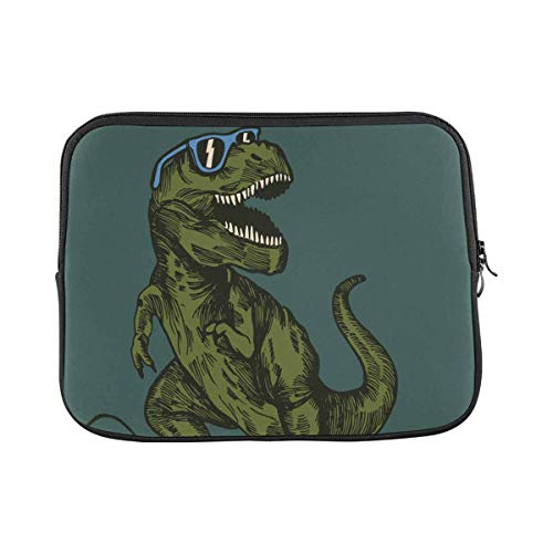 Hipster Sunglasses Dinosaur Laptop Sleeve Case 11 11.6 Inch Briefcase Cover Protective Notebook Laptop Bag