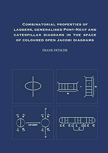 Combinatorial properties of ladders, generalised Pont-Neuf and caterpillar diagrams in the space of coloured open Jacobi diagrams