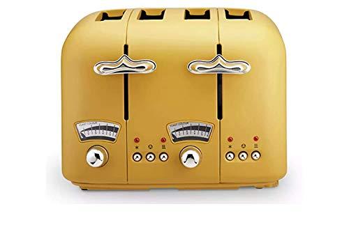 De'Longhi CT04 Argento Silva 4 Slice Toaster - Yellow