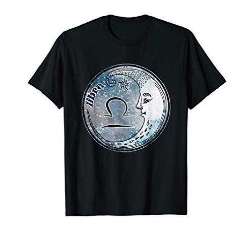 Waage Mondzeichen Astrologie Sternzeichen Libra T-Shirt