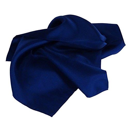 foulard donna seta blu - Pietro Baldini - foulard blu - Bandana 100% seta - Bandana blu - foulard donna blu scuro 55x55
