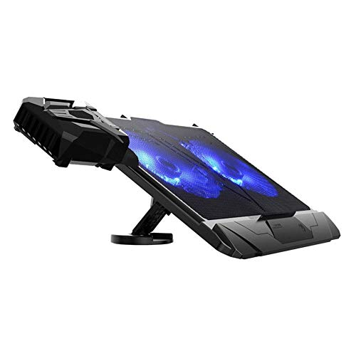 """PinPle Laptop Cooler with Vacuum Fan 12"""" - 17"""" Cooling Pad Adjustable Mounts Laptop Stand Height Angle"""