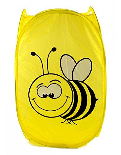 Cesto Ropa Sucia amarillo con diseño infantil