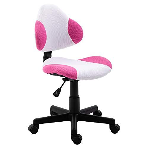 IDIMEX Schreibtischstuhl Osaka in pink, Bürostuhl mit Netzbezug, höhenverstellbarer Drehstuhl, Bürodrehstuhl mit Rollen