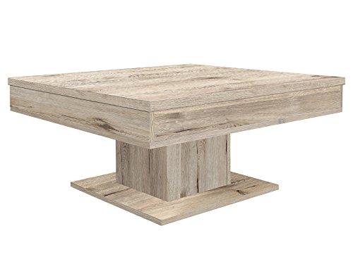 möbelando Couchtisch Sofatisch Holztisch Tisch Wohnzimmertisch Beistelltisch Cobbie I Sandeiche
