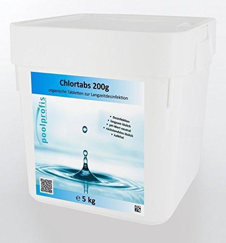 energieprofis 5 kg Chlor Tabs langsam löslich 200 g Chlortabletten