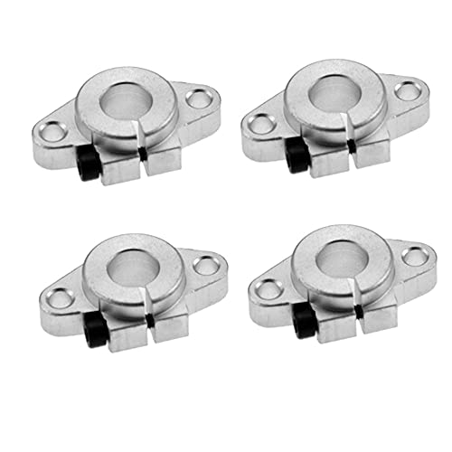 NLLeZ 4pcs SHF8 SHF10 SHF12 SHF13 SHF16 SHF20 SHF25 SHF30 Linear Bearing Shaft Support CNC Router For 3D Printer (Color : SHF8)