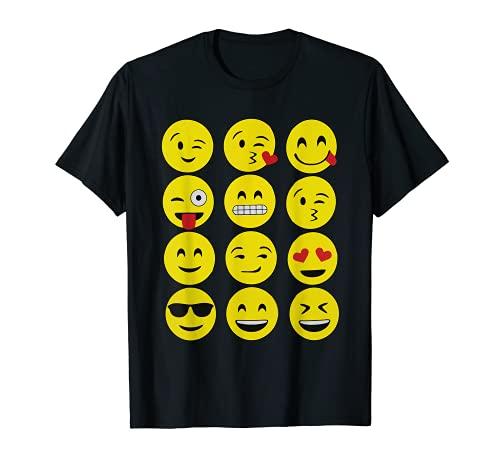 Emojis Camiseta Divertida Emoji Cara Amarilla Emoticones Top Tee Camiseta