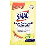 Smac Panni Umidi Detergenti Lavapavimenti Adatti a Ogni Scopa, Profumo di Limone, 12 Panni