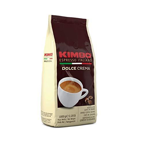 Kimbo Chicchi di Caffè Interi Dolce Crema, Tostatura Leggera, Busta da 1kg