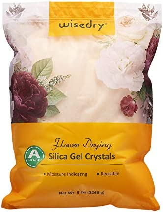 wisedry Silica Gel Flower Drying Crystals 5 LBS Color Indicating Reusable product image