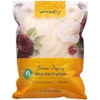 wisedry - Cristales de secado de flores (5 libras, sin polvo, indicador de color, reutilizables)