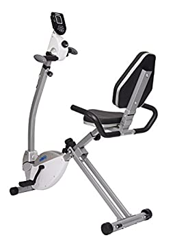 Stamina Recumbent Exercise Bike with Upper Body Exerciser | Adjustable Tension | LCD Monitor Tracks Metrics