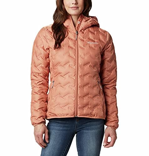Columbia Delta Ridge Down Hooded Chaqueta de Plumas con Capucha, Mujer, Nova Pink, L