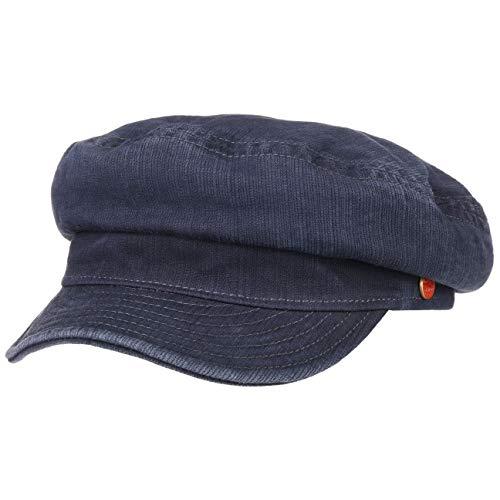 Mayser Altona Sunprotect Elbsegler Elbseglermütze Mütze Cap Baumwollcap Ballonmütze Schiffersmütze Damencap (55 cm - dunkelblau)