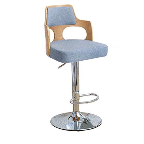 Ali@ Style européen Fauteuils de bar Tabourets de bar Tabouret de barrage Chaise de chaise haute en bois massif Chaise de réception Chaise haute (Couleur : Bleu)