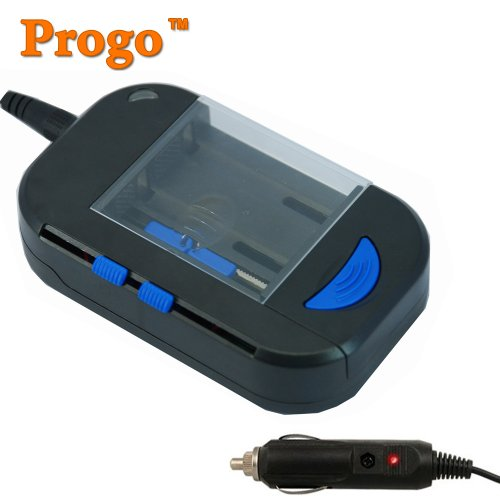 Progo brand Smart Universal All in One Battery Charger with USB Output and Car Charger. Chargers Digital Camera, Camcorder Battery, Cell Phone Battery, Rechargeable Ni-MH or Ni-CD AA & AAA battery, also charge iPhone 3G 4, iPod, iPad!