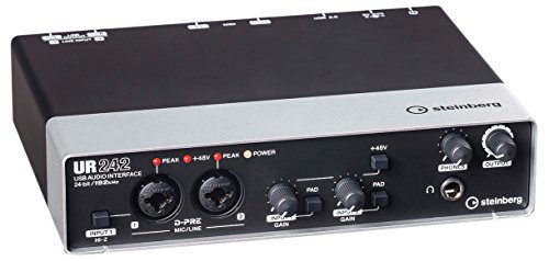 Steinberg UR242 EU USB-Audio-Interface (192 kHz, D-PRE) inkl. MIDI I/O, 45491