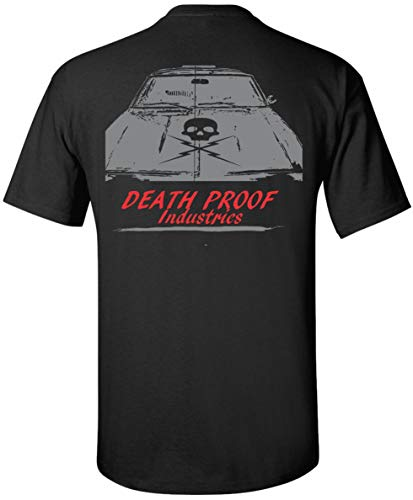 Death Proof Industries Skull Hood Nova Speed Shop T-Shirt Tee (2X-Large, Black)