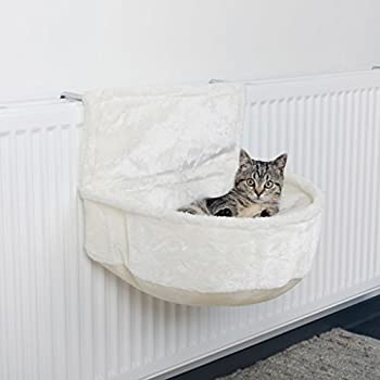 Trixie Sac Confort pour Radiateur Peluche pour Chat Blanc 45 × 13 × 33 cm