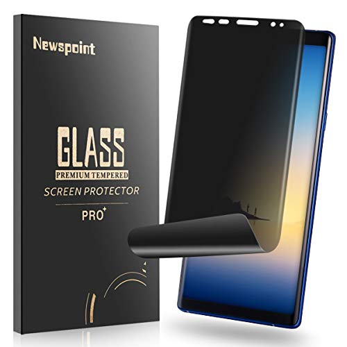 Newspoint Galaxy Note 8 Privacy Screen Protector 2-Way Anti Spy [Case Friendly] [Self Healing] [ 3D Curved Edge ] Soft Film, Full Adhesive Coverage Anti-Scratch Nano Shield for Samsung Galaxy Note 8