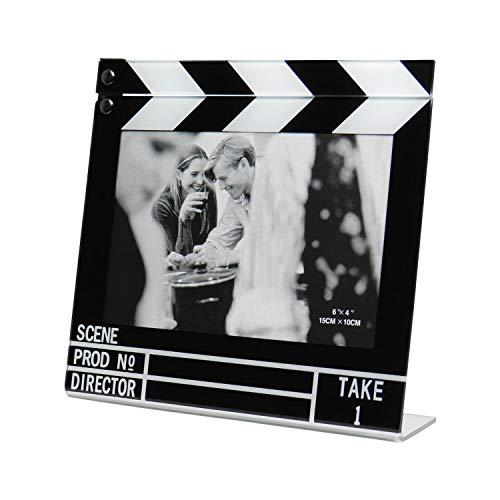 Portafotos cine. Marco de fotos con forma de claqueta de cine para fotos de 15x10cm