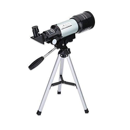 70mm diafragma telescoop voor kinderen en astronomie beginners, kinderen student educatief wetenschap speelgoed draagbare reistelescopen lab kit met statief, 150X, 75X, 22.5X, 45X, 50X, 15X, perfect cadeau