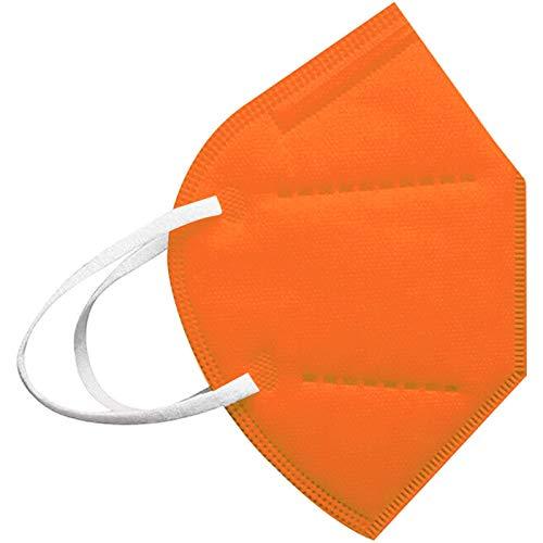 20-100PC Cinco Capas Tela para Adultos Proteccion Contaminacion Trabajo Ciclismo Gimnasio Colores Blanco Negro Rosa Azul Rojo Amarillo Morado Verde (20, Naranja)