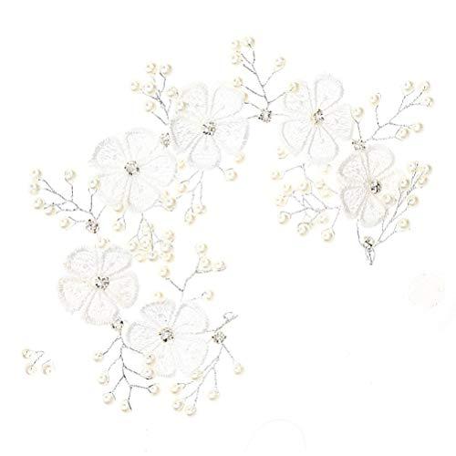 Bandeau De Mariage Élégant Dentelle Fleur Perles De Mariée Coiffures Chapeaux Accessoire De Cheveux de Mariage De Décoration De Cheveux