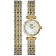 Protective scratch-resistant hard mineral crystal lens Round hypoallergic and tarnish resistant stainless steel case with analogue display Durable stainless steel 12 mm wide bracelet with jewellery clasp Water resistant to 50 m Reliable quartz crysta...