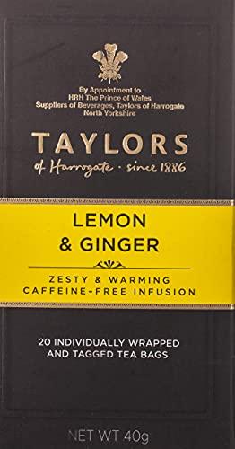 Taylors of Harrogate Lemon & Ginger Herbal Tea, 20 Count