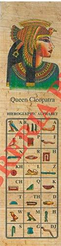 Segnalibro 'Queen Cleopatra' con alfabeto geroglifico