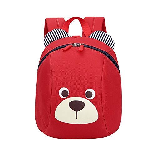 YWLINK Kinderrucksack Anti-Verlorene Kinder Rucksack Baby Tasche SüßEs Tier 3D BäR KinderrucksäCke Schulrucksack Junge Mädchen Daypacks 1-3 Jahre